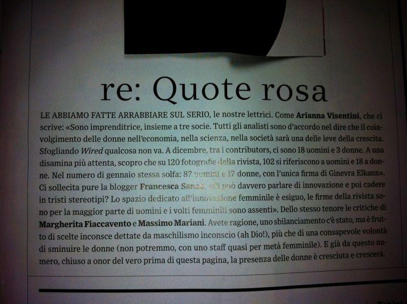 "Wired - febbraio 2012, pg 17 rubrica ""Inbox"""