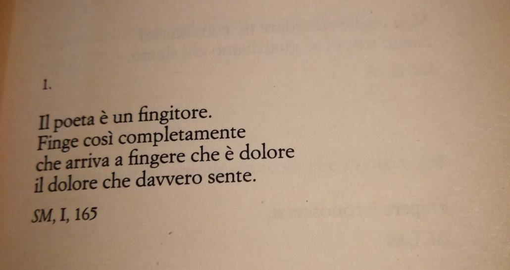 F.Pessoa, Il poeta è un fingitore