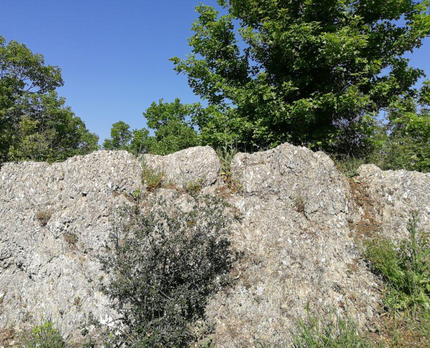 Pietra di quarzo, sentiero 900 Gaibola - Parco Cavaioni