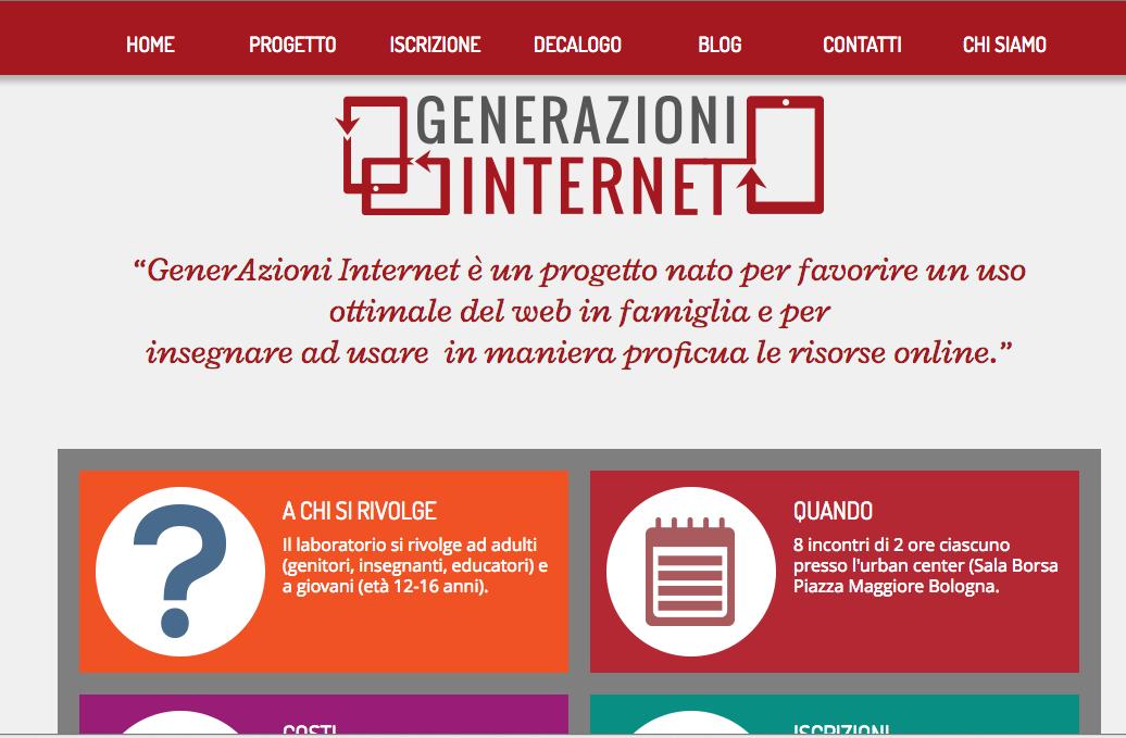 Generazioni Internet - il sito