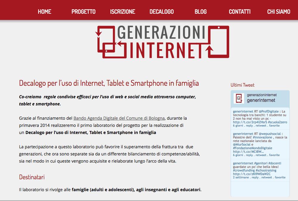 Generazioni Internet - il decalogo
