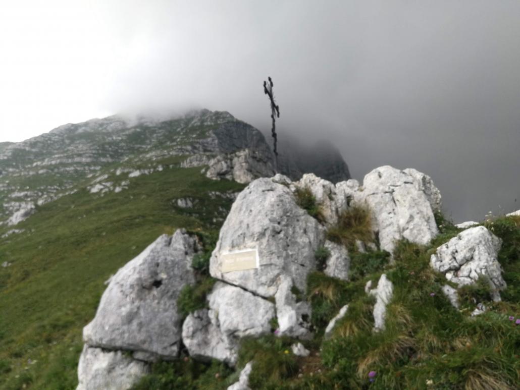 in cima alla montagna